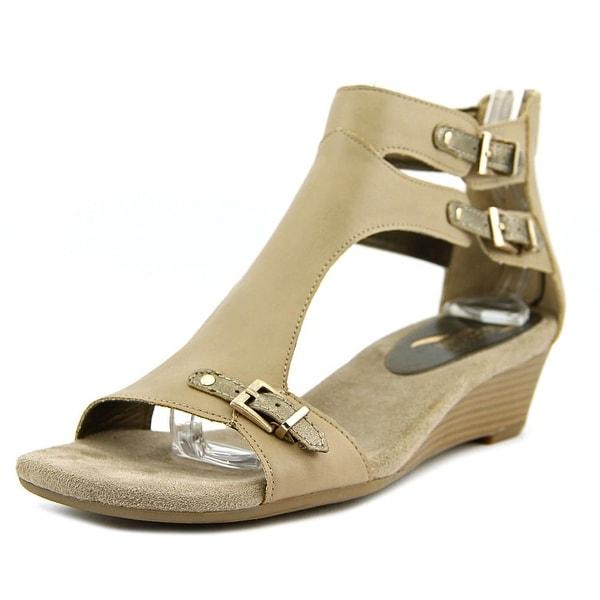Aerosoles Yet Another Women Open Toe Leather Tan Gladiator Sandal
