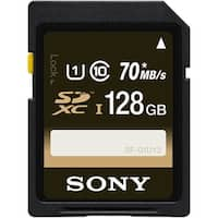Sony 128GB Class 10 UHS-1 SDXC up to 70MB/s Memory Card