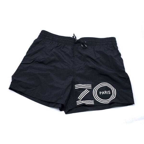 8a94e5eb0fd3 Kenzo Mens Black Bathing Suit Swim Shorts Size U.S. Medium EU Large - L