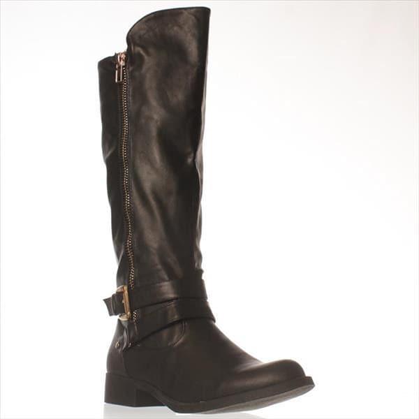 JFab Finella Knee-High Boots - Black