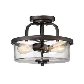 "Savoy House 6-6053-2 Tulsa 2 Light 12.75"" Wide Semi Flush Ceiling Fixture"