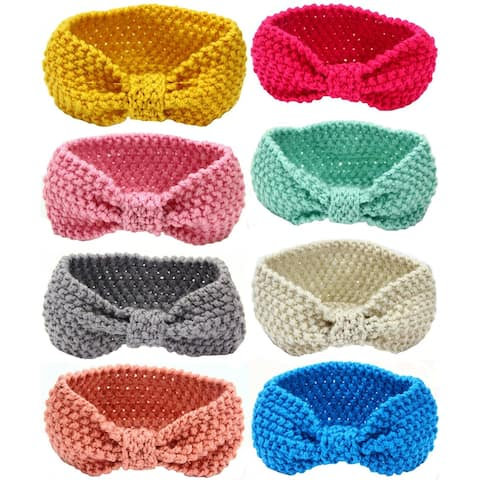 Baby Headbands Turban Knotted, Girl's Hairbands for Newborn