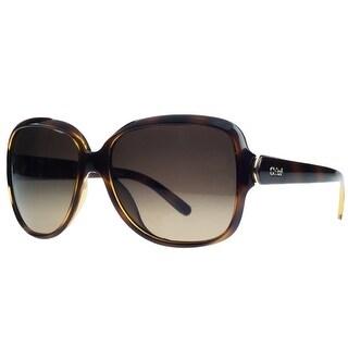 Chloe CE655/S 214 Light Havana Square Sunglasses
