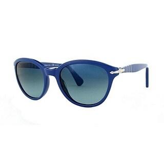 Persol PO3025S 53 962/S3 Sunglasses Capri Blue Frames Polarized Crystal Lens