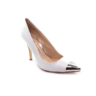 Chinese Laundry Danger Zone Women Pointed Toe Leather White Heels