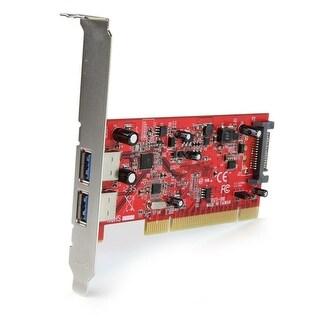 Startech - Pciusb3s4 4Port Pci Superspeed Usb 3Ncontroller Card W/ Sata/Sp4 Power