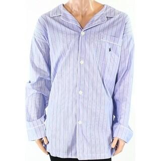 POLO RALPH LAUREN NEW Blue Mens Size 2XLT Big & Tall Striped Nightshirt