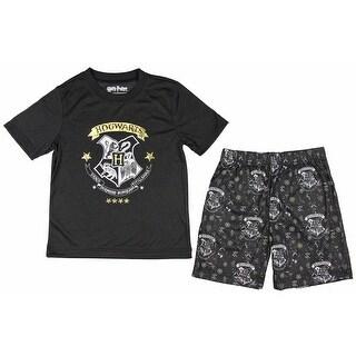 Intimo Harry Potter Big Boys' Hogwarts Tee & Shorts Pajama Set