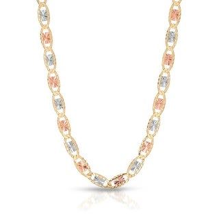 Mcs Jewelry Inc  14 KARAT THREE TONE, YELLOW GOLD WHITE GOLD AND ROSE GOLD, NECKLACE (4.5MM) - Multi
