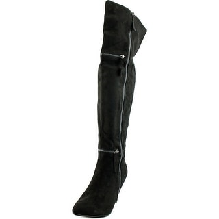 G.C. Shoes Betty Pointed Toe Synthetic Over the Knee Boot