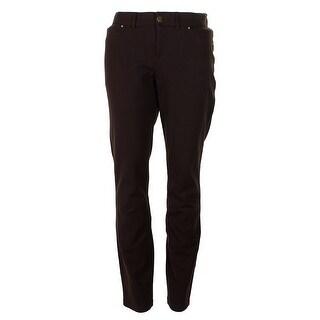 Inc International Concepts Coffee Bean Five-Pocket Skinny Pants 14