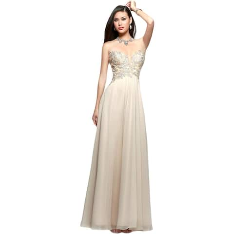 d250a6fcd6ae Faviana Womens S7325 Evening Dress Prom Strapless