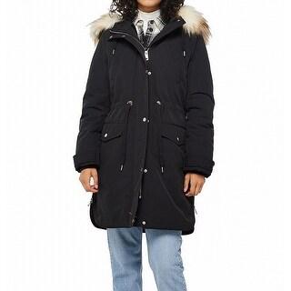 Link to Miss Selfridge Women's Parka Jacket Black Size 6 Faux Fur Trim Hooded Similar Items in Women's Outerwear