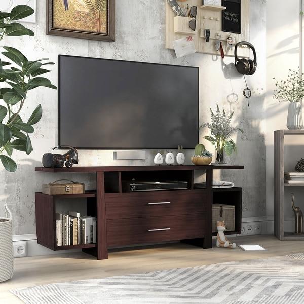 Furniture of America Bild Modern 59-inch Multi-storage TV Stand. Opens flyout.