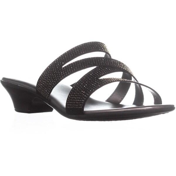 Karen Scott Embir Strappy Block Heel Sandals, Black