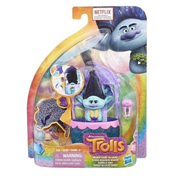 DreamWorks Trolls Branch/'s Dunk the Grump Dunk Tank Playset w// Figure /& Critter