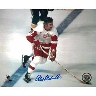 Alex Delvecchi Autographed Detroit Red Wings 8x10 Photo