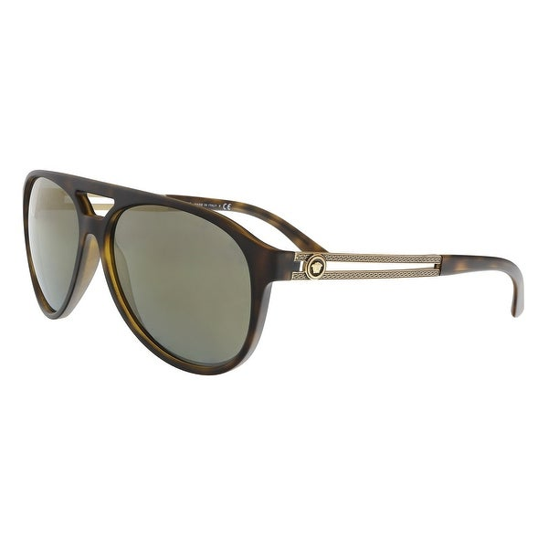 e53cfabbe43 Versace VE4312 51814T Havana Aviator Sunglasses - 60-15-145. Click to Zoom
