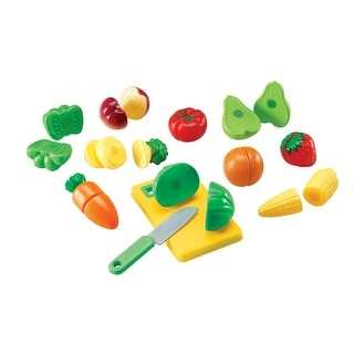 Learning Resources Pretend and Play Sliceable Fruits and Veggies, Set of 12