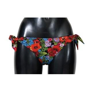 Dolce & Gabbana Multicolor Floral Print Bikini Bottom - it1-xs