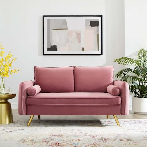 Revive Performance Velvet Loveseat