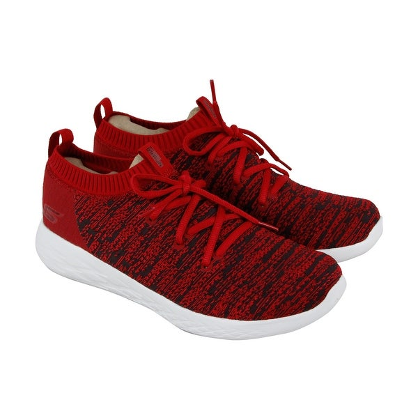 Skechers Gorun 600 Utilize Mens Red Textile Athletic Training Shoes