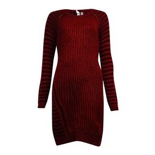 NY Collection Women's Ribbed Sheath Sweater Dress
