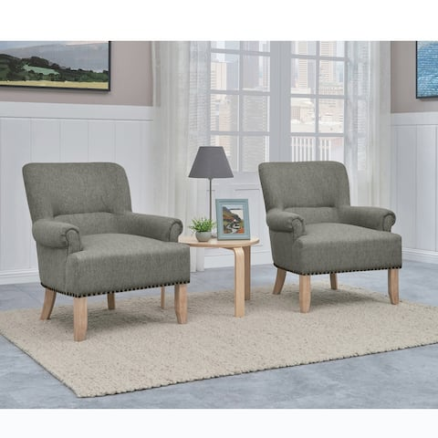 Copper Grove Delvine Rolled Arm Chair (Set of 2)
