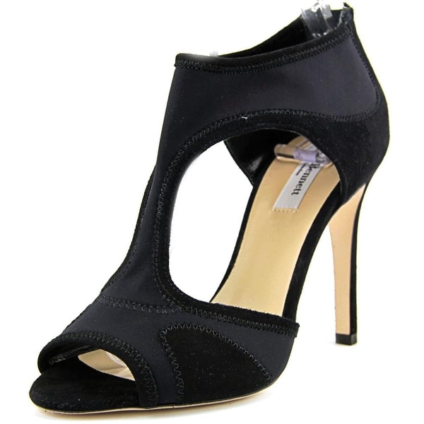 5e6503f5d5 Shop L.K. Bennett Anthea Women Peep-Toe Suede Black Heels - Free ...