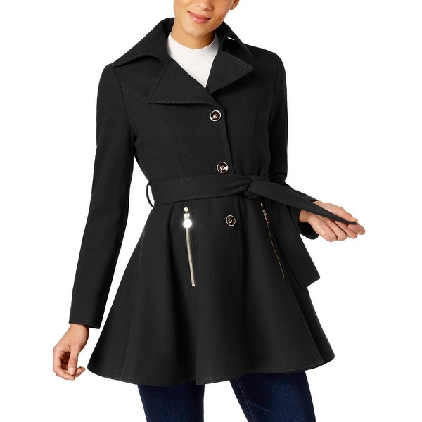 fc36db5c3e Shop INC International Concepts Skirted Peacoat Jacket Black - Free  Shipping Today - Overstock - 26965457