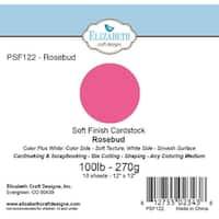 "Soft Finish Cardstock 12""X12"" 10/Pkg-Rosebud"