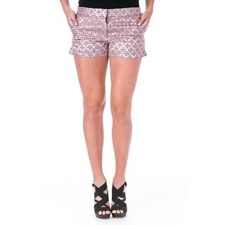 Elizabeth and James Womens Tristant Casual Shorts Tile Jacquard