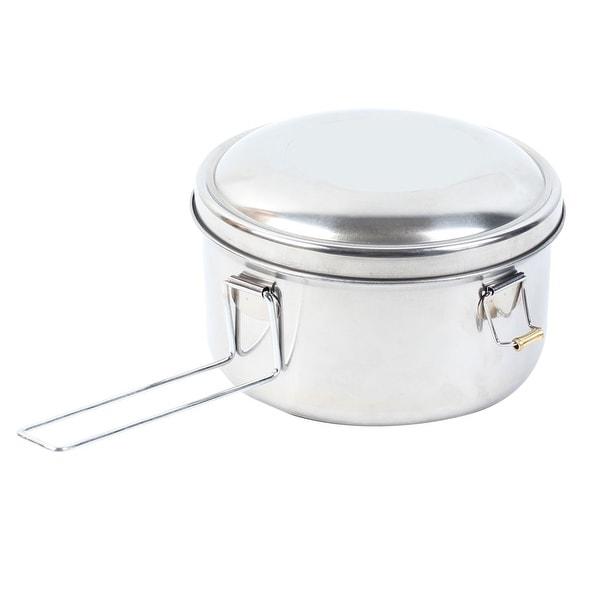 Unique Bargains Home Kitchen Clasp Closures 16cm Dia Round Shaped Lunch Box