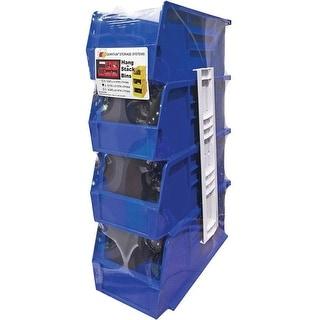 "Quantum RQUS230BL Storage Stack And Hang Bin, Blue, 11"" H x 5-1/2"" W x 5"" L"