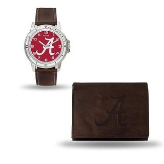 RicoIndustries Alabama Crimson Tide Brown Watch And Wallet