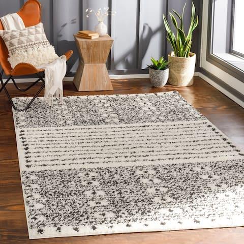 Kiran Scandi Stripe Plush Area Rug