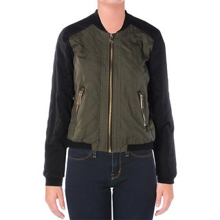 Celebrity Pink Womens Juniors Jacket Faux Leather Long Sleeves - M