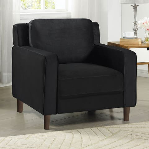 Furniture of America Manchaca Contemporary Black Cushioned Seat Chair