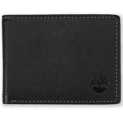 Timberland Mens Leather Core Sportz Slimfold Slim Bifold Wallet - Brown - One Size
