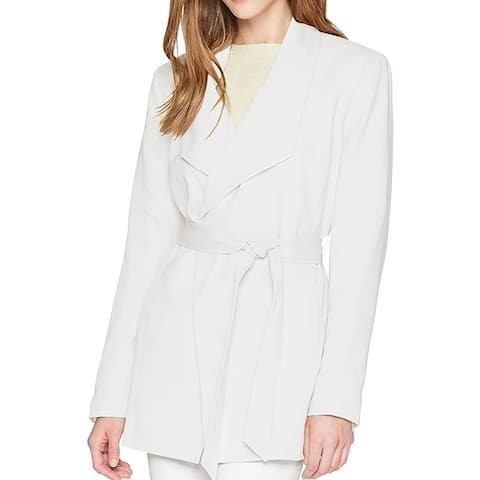 Nine West Women's Jacket Heavenly White Size 16 Belted Trench Coat