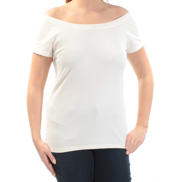 81846aa98b Shop Womens Ivory Short Sleeve Boat Neck Top Size M - Free Shipping On  Orders Over  45 - Overstock.com - 22640904