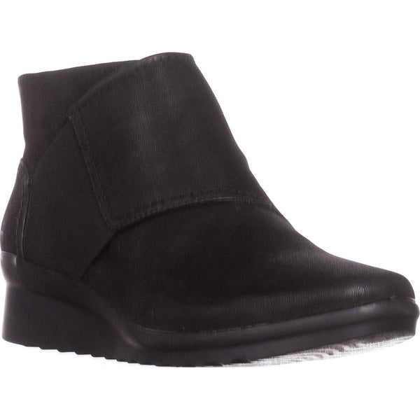Cloudsteppers by Clarks Caddell Rush Wedge Booties, Black