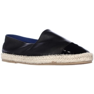 Jeffrey Campbell Atha Patent Toe Espadrille Flats - Black