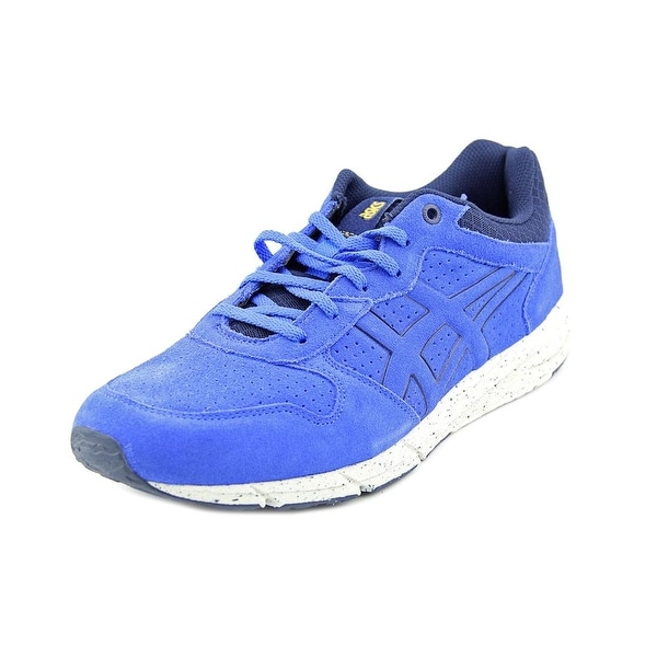 Shop Asics Shaw Runner Men Round Toe Suede Blue Sneakers