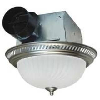 Air King DRLC702 Round Bath Fan with Light, 70 CFM, Nickel