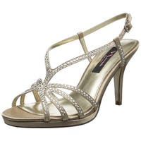 Nina Womens Bobbie Open Toe Special Occasion Slingback Sandals