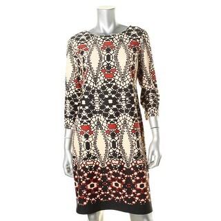 Julian Taylor Womens Pattern 3/4 Sleeves Wear to Work Dress - 10