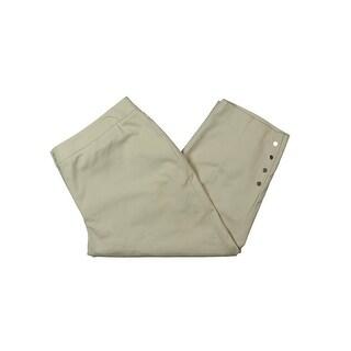 Rafaella Womens Capri Pants Curvy Fit Button Detail