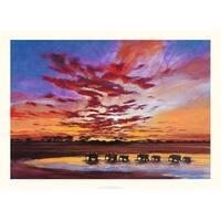 ''African Sky'' by Jonathan Sanders Prime Arts Art Print (19.7 x 27.6 in.)