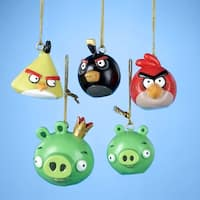"""Club Pack of 30 Angry Birds Mini Christmas Ornaments 1.75"""""""